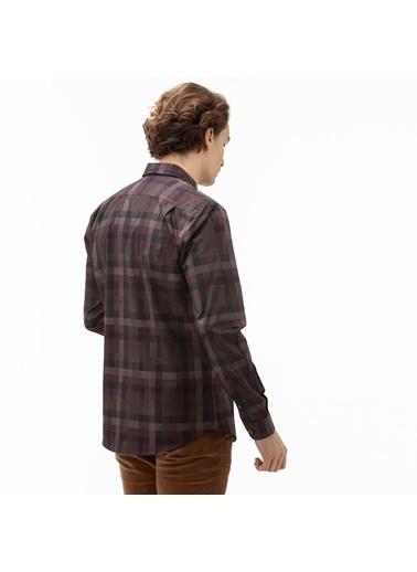 Lacoste Erkek Slim Fit Gömlek CH2017.17R Bordo